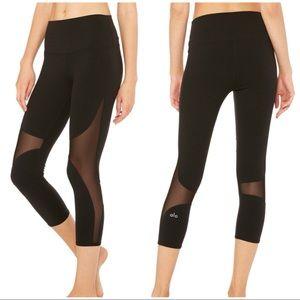 6442d352c9ec7b ALO Yoga Pants   High Waist Coast Mesh Capri Leggings   Poshmark